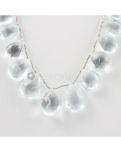 15 to 19 mm - Light Blue Aquamarine Drops - 160.00 carats (AqDr1031)