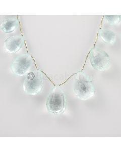 13 to 20 mm - Light Blue Aquamarine Drops - 124.00 carats (AqDr1033)