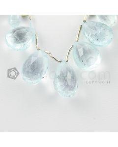 9 to 14 mm - Light Blue Aquamarine Drops - 33.00 carats (AqDr1034)