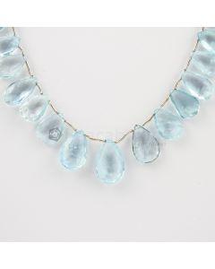 9 to 17 mm - Medium Blue Aquamarine Drops - 73.00 carats (AqDr1003)