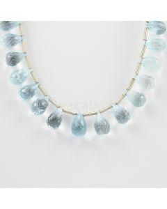 10 to 12 mm - Medium Blue Aquamarine Drops - 77.00 carats (AqDr1006)