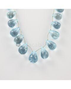 16 to 20 mm - Medium Blue Aquamarine Drops - 259.00 carats (AqDr1015)