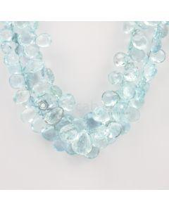 9 to 15 mm - Medium Blue Aquamarine Drops - 398.00 carats (AqDr1022)