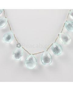 13 to 17 mm - Medium Blue Aquamarine Drops - 137.00 carats (AqDr1026)