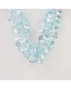 10 to 16 mm - Medium Blue Aquamarine Drops - 400.00 carats (AqDr1037)