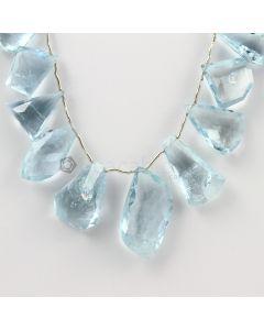 17 to 25 mm - Medium Blue Aquamarine Drops - 174.50 carats (AqDr1041)