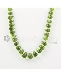 9 to 11.50 mm - Medium Green Peridot Drops - 99.00 carats (PDr1017)