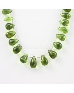 9 to 13 mm - Medium Green Peridot Drops - 108.00 carats (PDr1018)