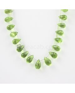 10 to 12 mm - Medium Green Peridot Faceted Drops - 72.50 carats (PDr1007)