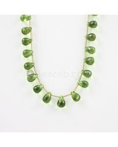 9 to 11 mm - Medium Green Peridot Faceted Drops - 125.00 carats (PDr1011)