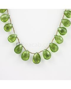 10 to 14 mm - Medium Green Peridot Faceted Drops - 120.00 carats (PDr1024)