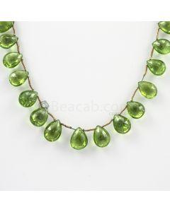 9 to 12 mm - Medium Green Peridot Faceted Drops - 88.50 carats (PDr1026)