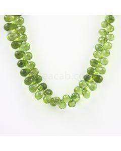 8.50 to 10 mm - Medium Green Peridot Faceted Drops - 179.00 carats (PDr1033)