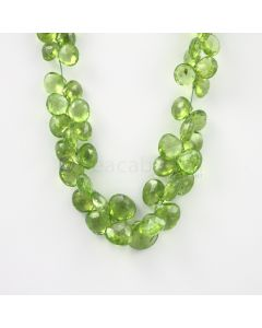 6.50 to 10.50 mm - Medium Green Peridot Faceted Drops - 109.50 carats (PDr1035)