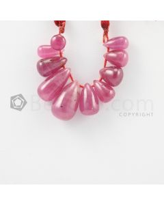 6 to 13.50 mm - Medium Red Ruby Drops - 33.30 carats (RDr1039)