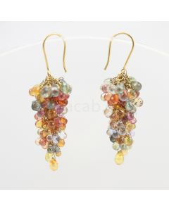 3 to 4 mm - Multi-Sapphire Drop Earrings - 50.40 carats (CSEarr1005)