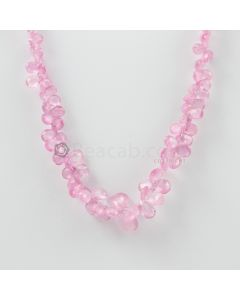3 to 9.50 mm - 1 Line - Pink Sapphire Drops - 105.50 carats (PSDr1009)