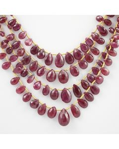 5.50 to 13 mm - 4 Lines - Ruby Drops - 132.10 carats (RDr1008)