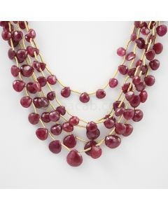 5.50 to 9.50 mm - 5 Lines - Ruby Drops - 133.15 carats (RDr1009)