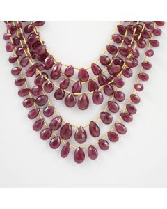 6.30 to 11 mm - 5 Lines - Ruby Drops - 122.16 carats (RDr1010)