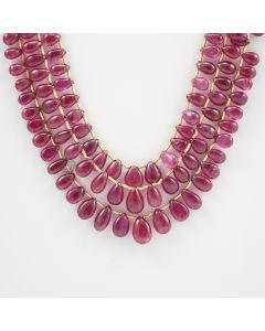 5.30 to 9.30 mm - 3 Lines - Ruby Drops - 189.67 carats (RDr1020)