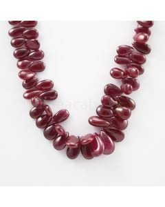 9 to 14 mm - 1 Line - Ruby Drops - 250.50 carats (RDr1021)