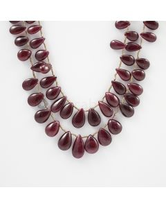 9 to 15.50 mm - 2 Lines - Ruby Drops - 278.00 carats (RDr1022)