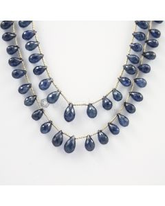 6.30 to 10 mm - 2 Lines - Sapphire Drops - 151.35 carats (SDr1008)