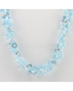 6.50 to 8 mm - 1 Line - Blue Topaz Drops Necklace  - 228.50 carats (CSNKL1147)