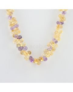6.80 to 9 mm - 1 Line - Citine and Amethyst Drops Necklace  - 273.00 carats (CSNKL1127)