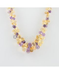 7 to 12.80 mm - 1 Line - Citine and Amethyst Drops Necklace  - 314.50 carats (CSNKL1128)