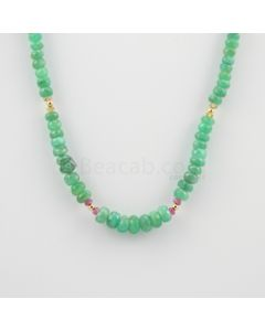 4.50 to 8.40 mm - 1 Line - Emerald and Sapphire Faceted Beads Necklace - 97.53 carats (CSNKL1105)