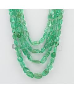 5.00 to 14.00 mm - 4 Lines - Emerald Tumbled Beads - 364.95 carats (EmTuB1024)