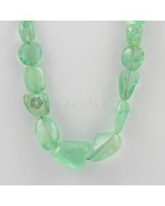 6.50 to 22.00 mm - 1 Line - Emerald Tumbled Beads - 276.00 carats (EmTuB1032)