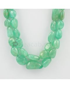 9.00 to 25.00 mm - 2 Lines - Emerald Tumbled Beads - 495.25 carats (EmTuB1034)