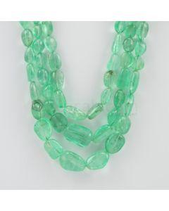 4.00 to 17.00 mm - 3 Lines - Emerald Tumbled Beads - 432.35 carats (EmTuB1038)