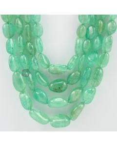 7.00 to 19.00 mm - 4 Lines - Emerald Tumbled Beads - 1137.30 carats (EmTuB1039)