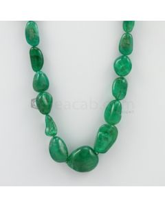 9.00 to 22.00 mm - 1 Line - Emerald Tumbled Beads - 340.85 carats (EmTuB1041)