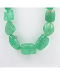 19.50 to 30 - 1 Line - Emerald Tumbled Beads - 1544.00 carats (EmTub1060)
