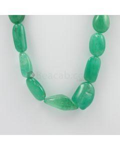 15.50 to 32 mm - 1 Line - Emerald Tumbled Beads - 680.50 carats (EmTub1065)