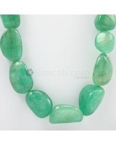 17 to 28 mm - 1 Line - Emerald Tumbled Beads - 1125.00 carats (EmTub1073)