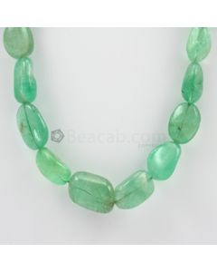 7 to 10 mm - 1 Line - Emerald Tumbled Beads - 564.50 carats (EmTub1083)
