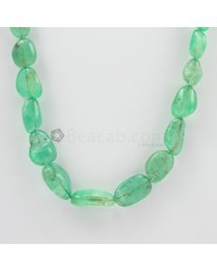 9 to 21 mm - 1 Line - Emerald Tumbled Beads - 323.00 carats (EmTub1084)