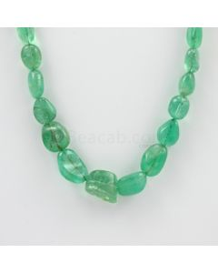 9 to 13 mm - 1 Line - Emerald Tumbled Beads - 256.00 carats (EmTub1086)