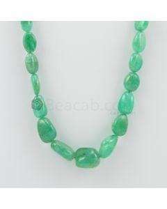 9.00 to 16.50 mm - 1 Line - Emerald Tumbled Beads - 192.76 carats (EmTuB1048)