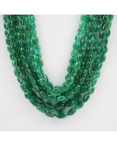 4.00 to 10.00 mm - 6 Lines - Emerald Tumbled Beads - 423.08 carats (EmTuB1052)