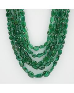 4.50 to 12.50 mm - 5 Lines - Emerald Tumbled Beads - 411.75 carats (EmTuB1053)
