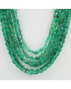 4.50 to 7.50 mm - 4 Lines - Emerald Tumbled Beads - 285.14 carats (EmTuB1054)