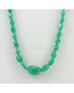 7.00 to 17.00 mm - 1 Line - Emerald Tumbled Beads - 115.06 carats (EmTuB1058)