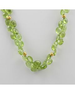 Peridot Faceted - 1 Line - 155.00 carats - 16 inches - (CSNKL1005)